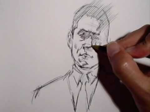 This video is a demonstration of head quick sketch drawing using the Reilly Method, narrated by the artist. Quick sketch is a name for a short, 1-10 minute, drawing or study from life or model. Topics covered in video:  -drawing fundamentals  -head lay-in / construction  -adding light and shade  -edgework    For the static/text version please visit the tutorial blog:  http://www.freshdesigner.com/head-quick-sketch-tuturial/