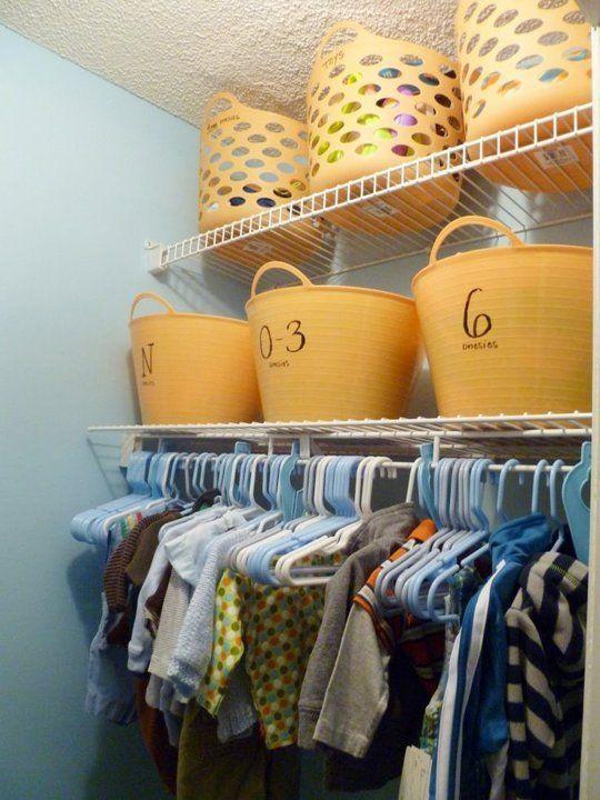 Baby closet, great idea