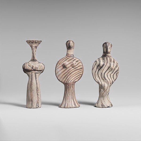Mycenaean (Helladic) Modern Date:ca. 1400–1300 B.C. These terracotta female figurines are referred to as phi Φ, tau Τ or psi Ψ figurines, for their resemblance in shape to those Greek letters. Original photo: The Met. . . . #inspiration #letterlove #letters #alphabet #greekalphabet #greekart #ancientgreece #mycenaean #greece #greekdesign #design #designinspiration #modern #simplicity #antiquities #lovegreece #sculpture #art #themet