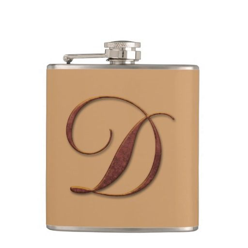 Bronze Clay Monogram Flasks