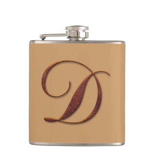 Bronze Clay Monogram Flasks