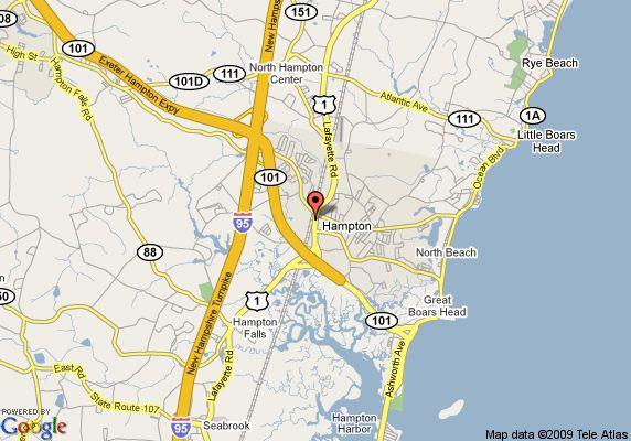 North Hampton Beach New Hampshire Map New England Coast