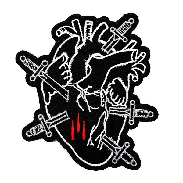stay cold, tattoo patch, tattoo apparel, tattoo clothing, broken heart patch