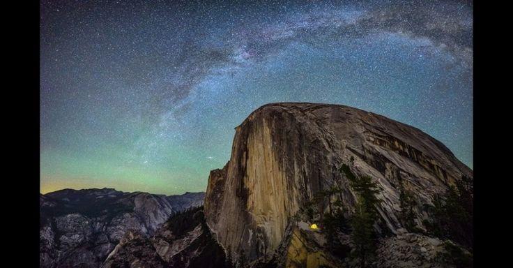 A edição de 2015 do concurso de fotos de viagem National Geographic Traveler Photo abriu inscrições. A cada ano, os viajantes são convidados a inscrever suas fotos mostrando imagens de várias partes do mundo. Uma barraca iluminada se transforma em uma pequena fonte de luz amarelada no Trampolim, uma rocha no Half Dome Peak, a 1.524 metros acima do Vale do Yosemite, EUA, nesta foto de Matthew Saville