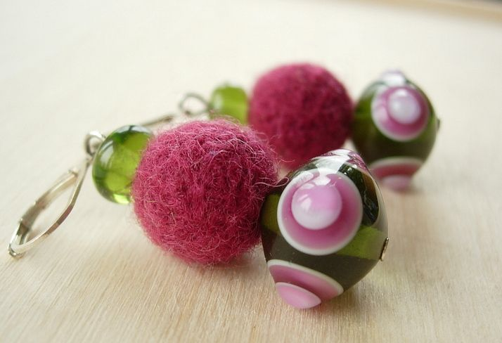 with lampwork beads