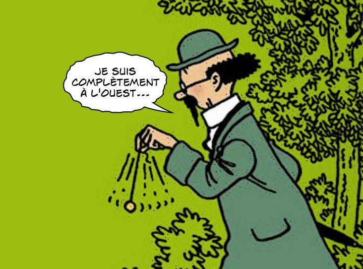 Dans Tintin, Tournesol est complètement à l'ouest