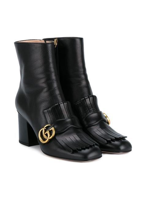 Gucci ботинки по щиколотку с бахромой