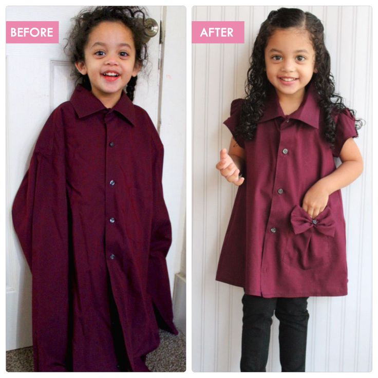 DIY - Refashioned / Upcycled Adult Work Shirt to Toddler Tunic