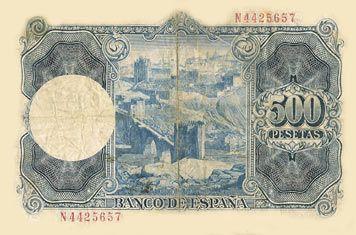 Rafael Castillejo-Billetes antiguos de pesetas-Banco de España-Billetes divisionarios de España-pesetas republicanas