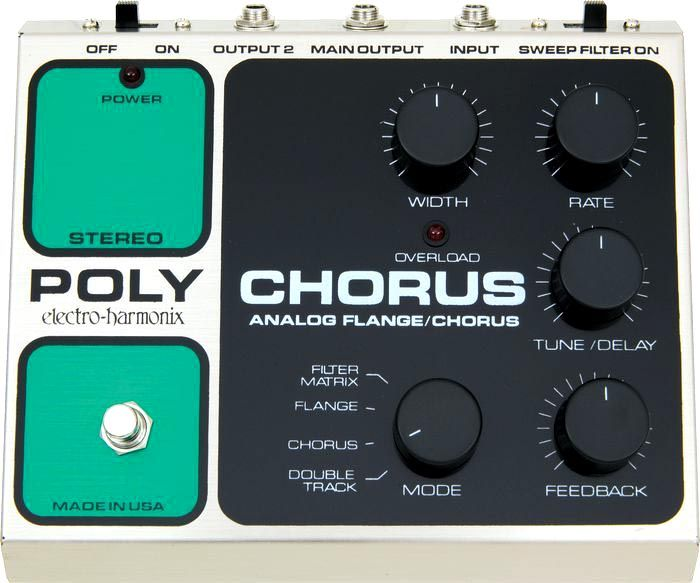 electro-harmonix PolyChorus This is the same pedal/effect Kurt Cobain used on In Utero for songs Radio Friendly Unit Shifter, Heart Shaped Box, and Scentless Apprentice.