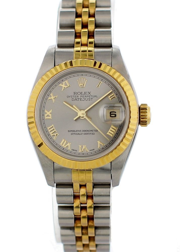 cf35ab1f1b4a7 Details about Rolex Datejust 69173 Steel 26.0mm Women Watch (Certified Pre- Owned)
