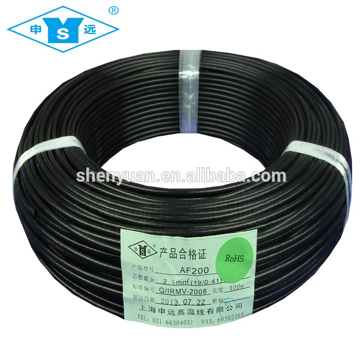 AF200X 2.5MM FEP tinned copper electrial Wire cable price