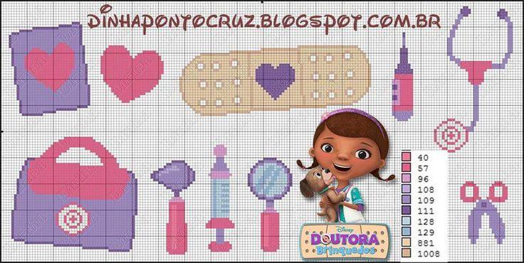 Boa semana bordadeiras no plantão!!!  Esta semana teremos a turminha da doutora brinquedos    Esta é a semaninha escolar da minha filhota e...