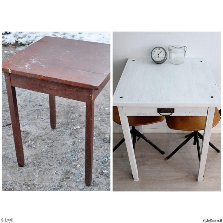 pöytä,vanha pöytä,keittiö,Tee itse - DIY,lundagård,tuunaus,tuunausprojekti,pieni pöytä,pikkupöytä,vanha,diy pöytä