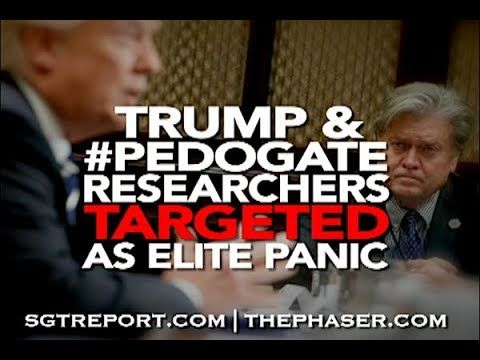 TRUMP & #PEDO RESEARCHERS TARGETED, AS ELITE PANIC - YouTube
