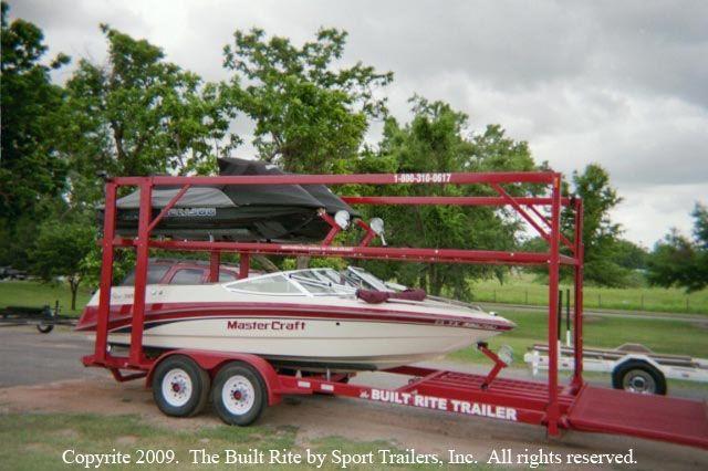 Double Decker Watercraft Trailer By Built Rite Boat En