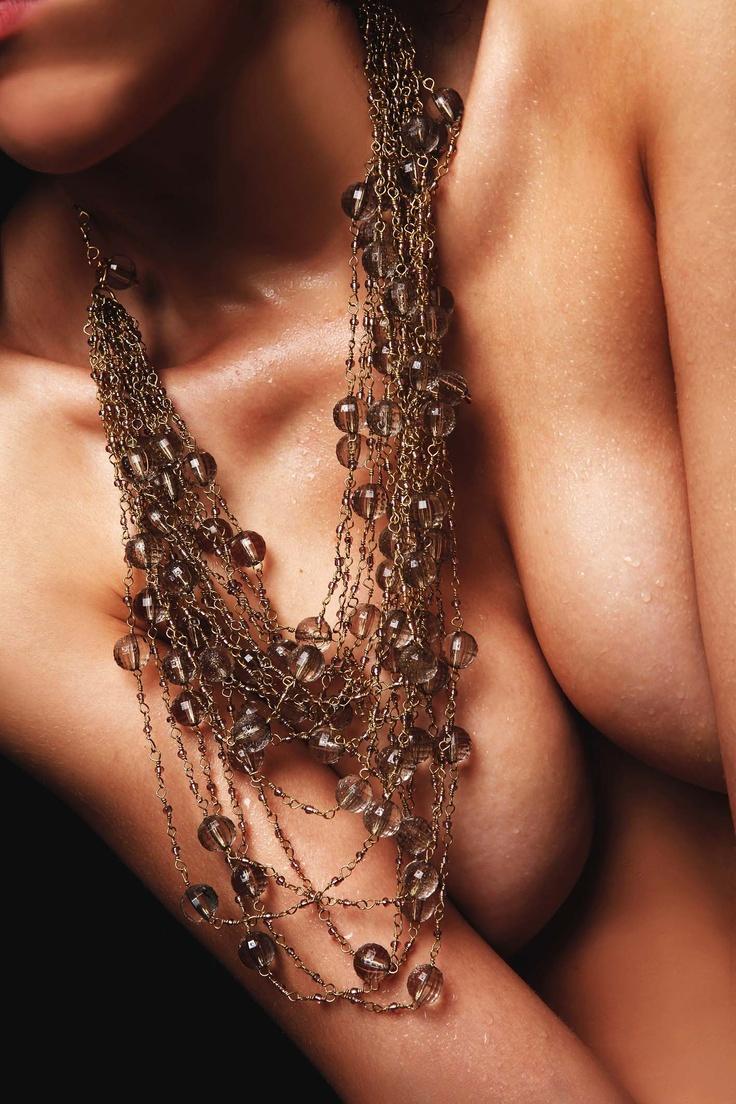 brass hand-braided like crochet with plastic stones/ photo:Aris Rammos