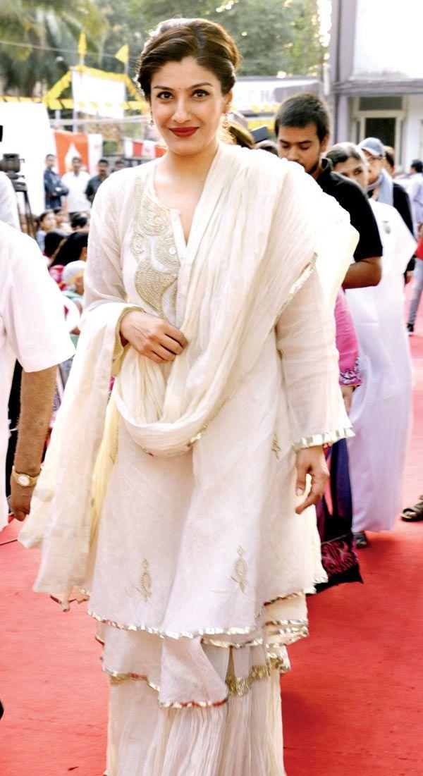 Raveena Tandon at a Woman's Day event. #Bollywood #Fashion #Style #Beauty #Hot #Punjabi