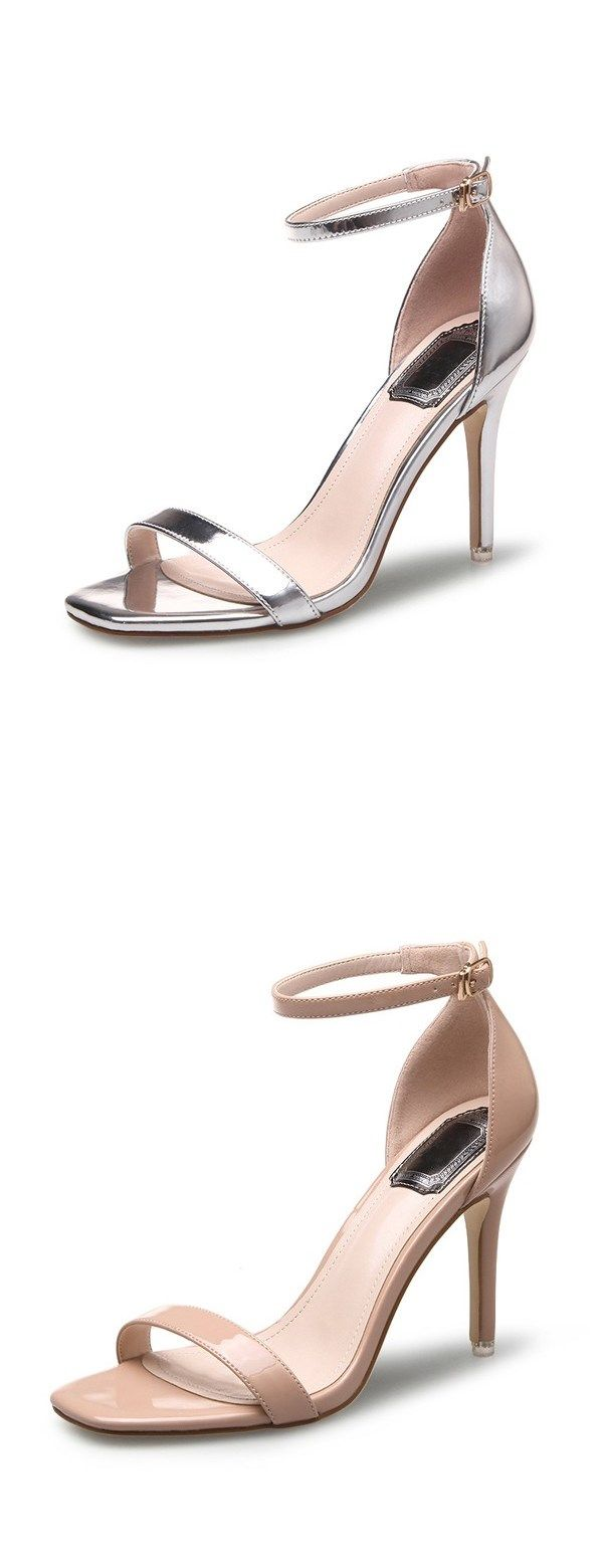 two piece sandals, silver sandals, sandals, fashion samdals