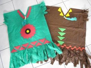 disfraz de indio con bolsa plastico, verde o marrón…