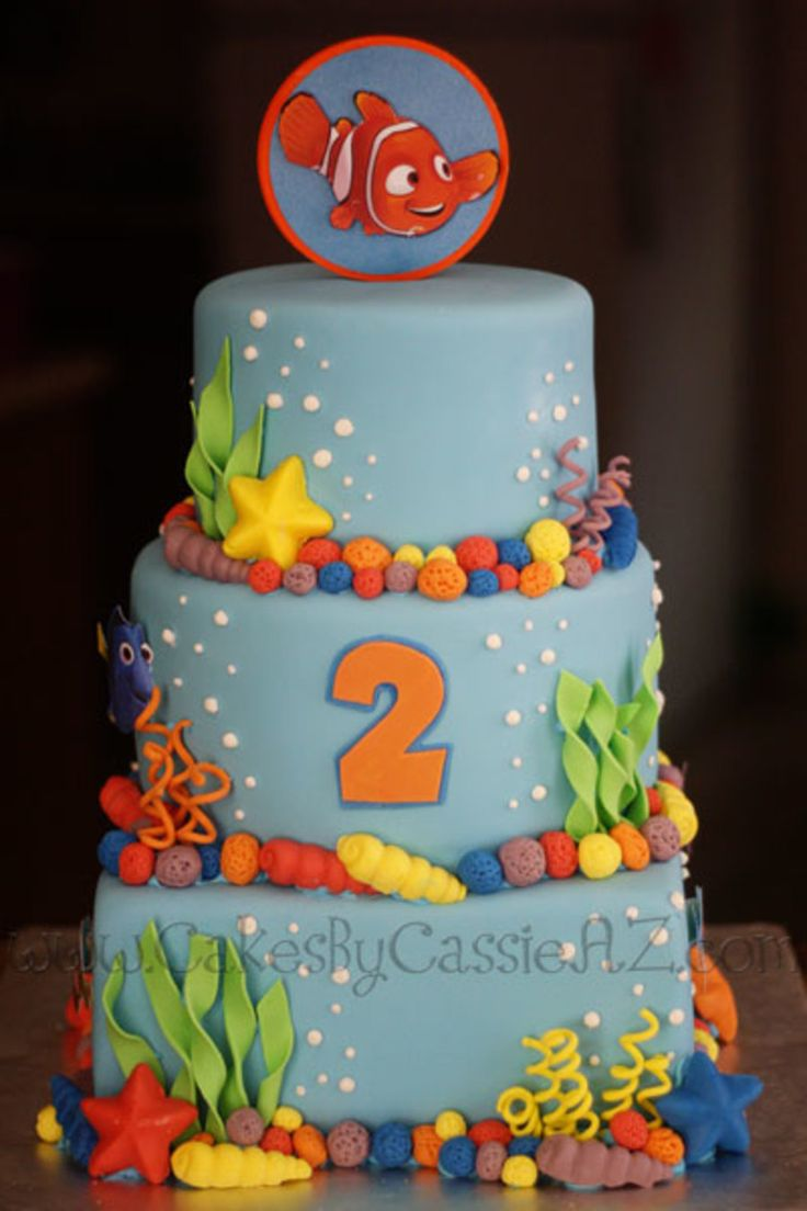 16 best 1st Birthday Cake images on Pinterest Finding nemo cake