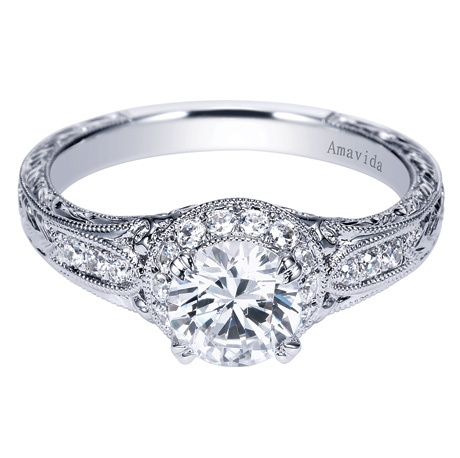 with products white diamond rings gold vintage center inspired moissanite amavida engagement ring