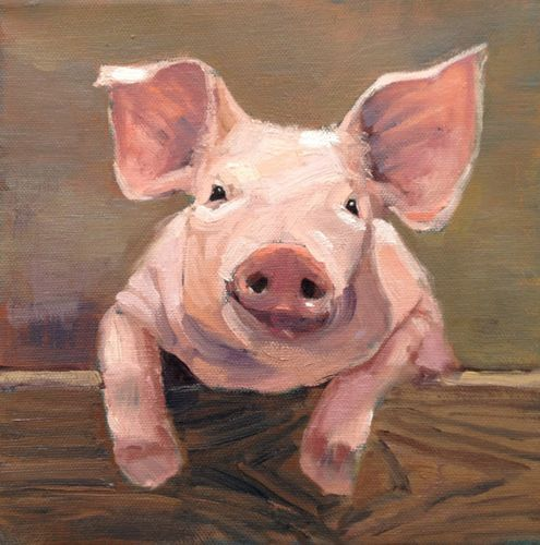 Acrylic Paintings Of Pigs