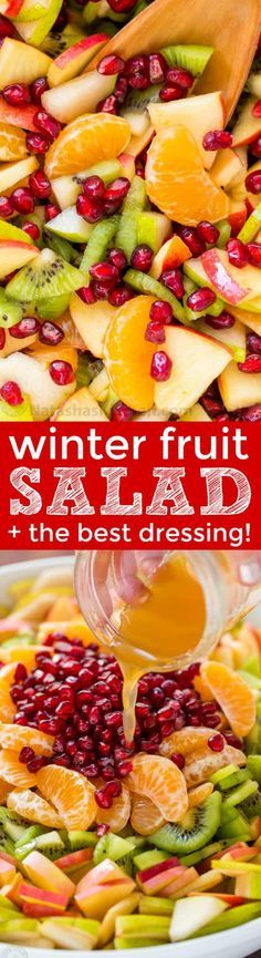 """Winter fruit salad is refreshing and loaded with the best fruits of winter. The lemon-lime-honey syrup is lip-smacking good! You'll be running for refills! 