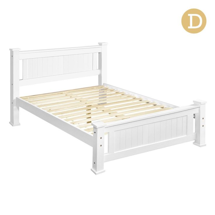Double Bed Frame Solid Pine Wood Timber w/ Slats