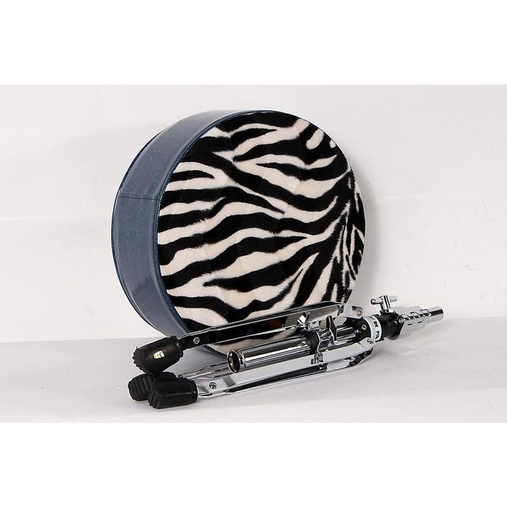 Pork Pie Round Drum Throne Blue with Zebra Top 888365988948