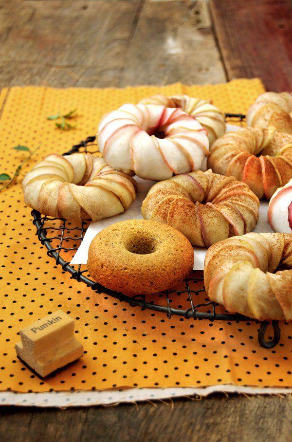 Apple pumpkin donut