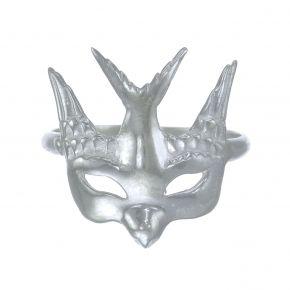 Zoe and Morgan Swallow Mask Ring