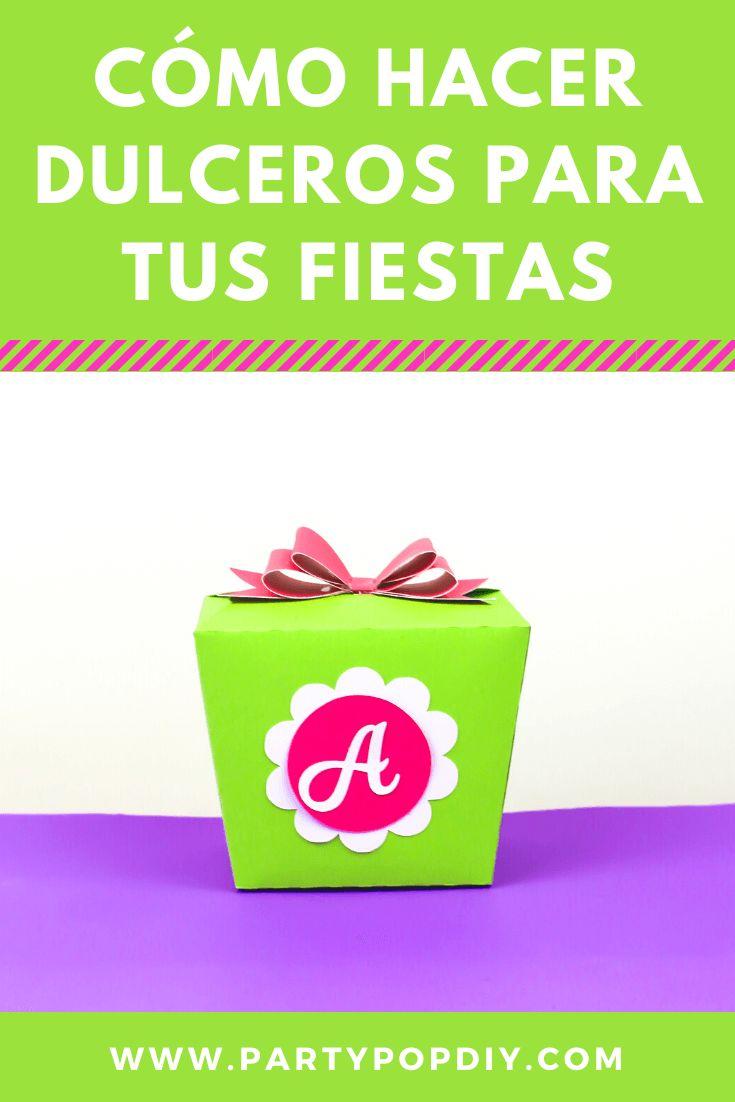 Como hacer dulceros para tus fiestas #dulceros #cajitas #mesadedulces #fiesta #cajita #dulcero Baby Shower, Diy, Container, Cakes, Birthday Treats, Candy Stations, Birthday Cards, Sachets, Crates