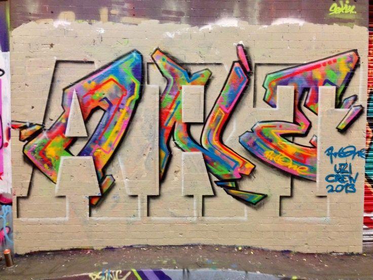 Leak Street Tunnel London - ArtOne | via Global Street Art