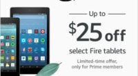 Shop Amazon – Save up to $25 on Amazon Fire tablets – Exclusively for Prime Members