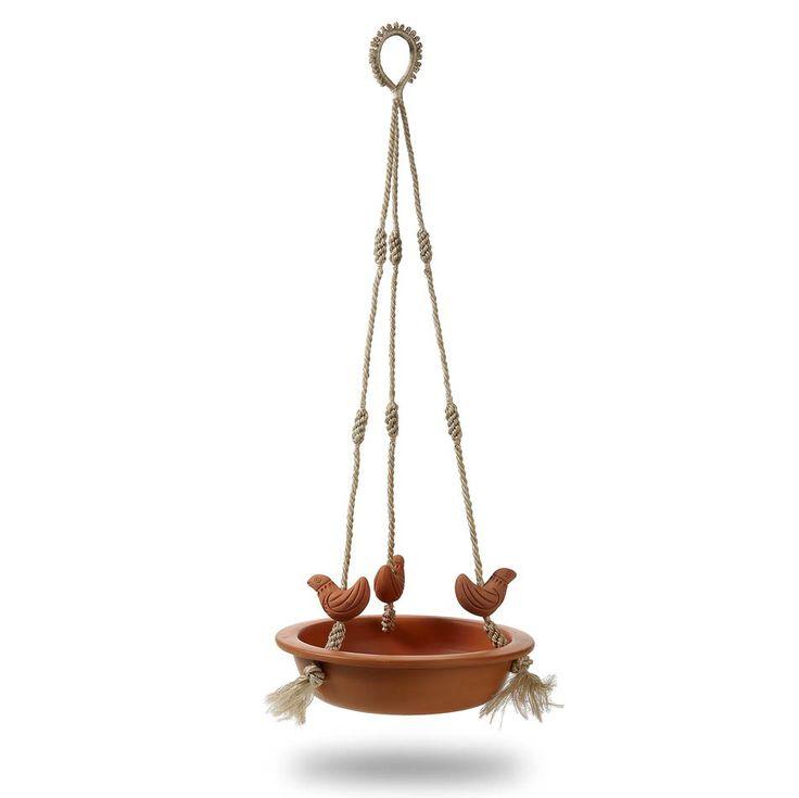 Hanging Terracotta Bird Feeder