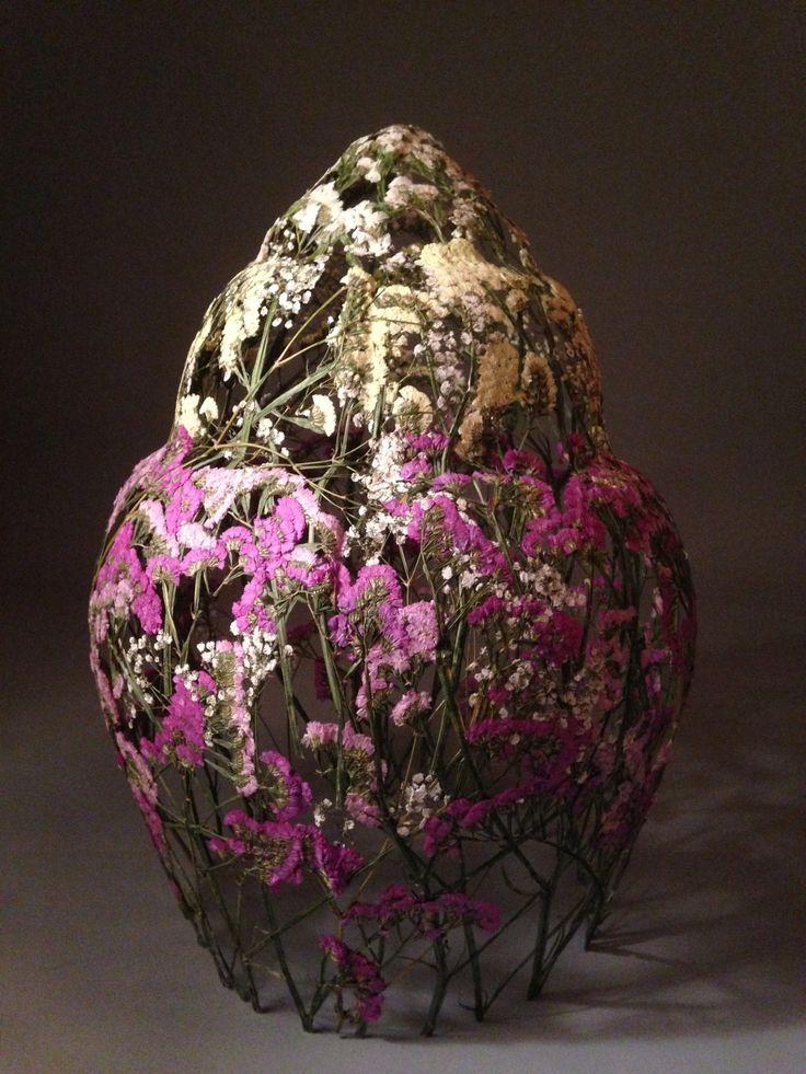 Delicate Pressed Flower Sculptures by Ignacio Canales Aracil