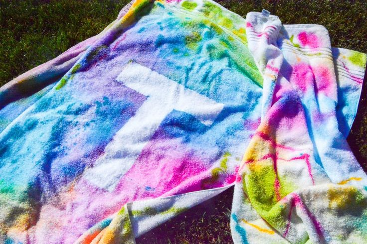Spray Dye Swimming Towels - Design Dazzle