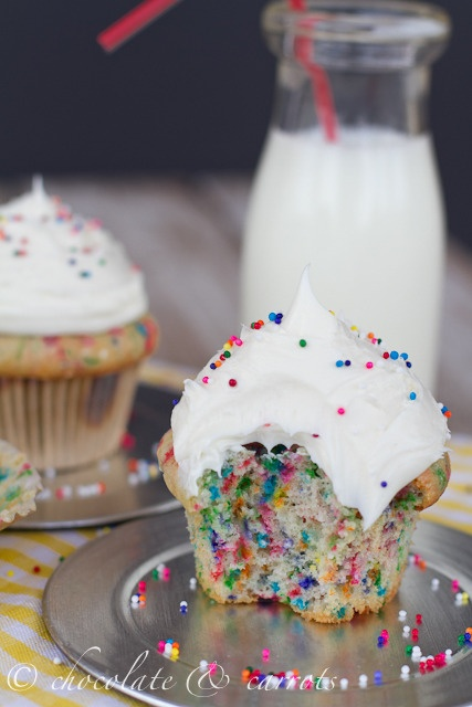 Funfetti Cupcakes for Two. These are DELICIOUS!! I wish I had made more...haha
