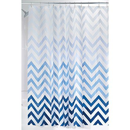 £8.95 Amazon MDesign Anti Mould Shower Curtain With Obre Pattern   Ideal  Bathroom Curtain With