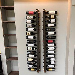Wine Rack 16 Bottle Ladders Set Of 3 Etageres A Bouteilles De Vin Casier Vin Casiers A Bouteilles Mur