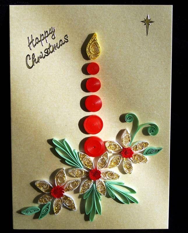 Открытки, открытка на новый год в стиле квиллинг