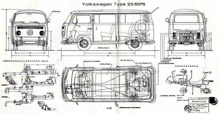 46 best VW T2 line drawings images on Pinterest