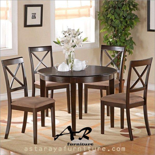 Meja Makan Bundar Minimalis Furniture