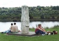 A totem sculpture at Tyne Riverside Country Park