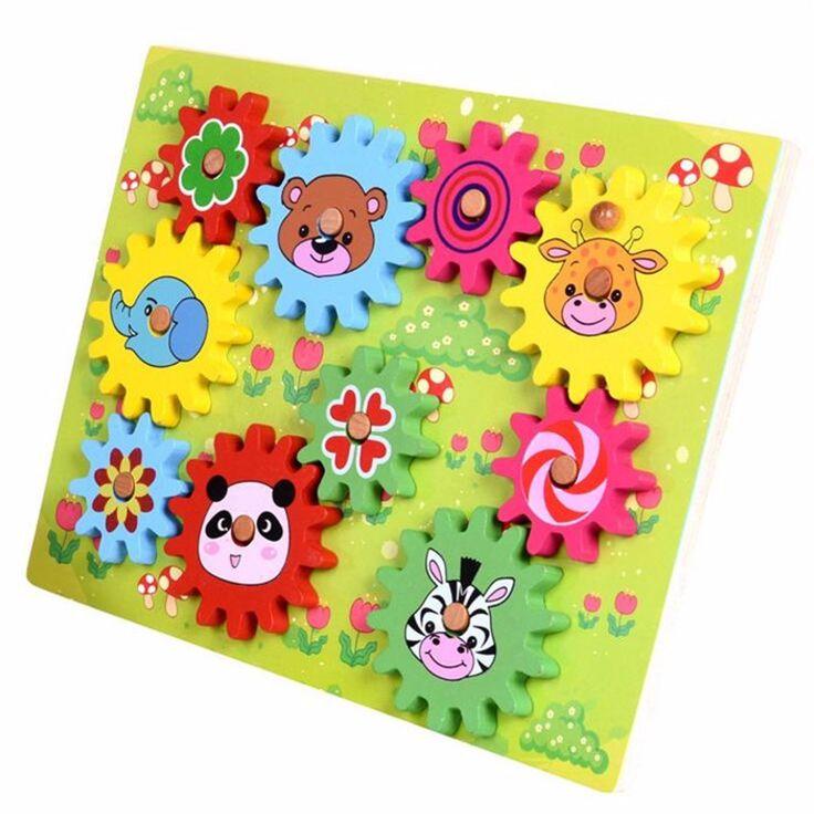 Деревянная Игрушка Передач с Животных Блоки Интеллект Детские DIY Игрушки Развивающие Мягкие Монтессори дети интеллектуальные творческие игрушки купить на AliExpress