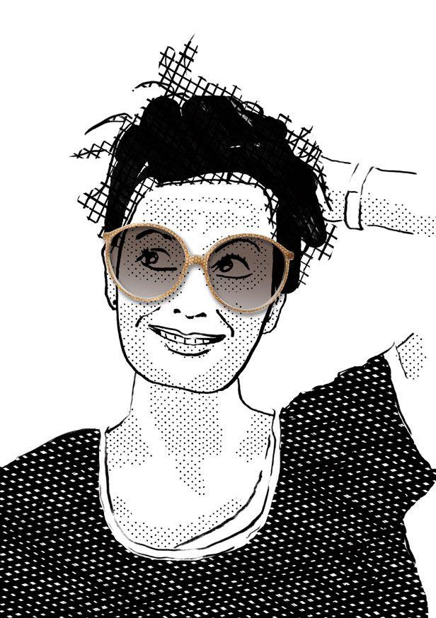 Julia wearing Rodenstock. illustration by Julia Kaiser. #eyewearportraitproject #faces #portrait #drawing #illustration #fashion #eyewear #glasses #shades #frames #vintage #shadow #blackandwhite #fashionillustration #studiojuliakaiser #eyewearvintage #rodenstock