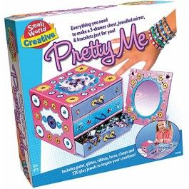 Pretty Me Jewelry Box and Mirror Decorating Craft Kit $24.97 http://www.educationaltoysplanet.com/best-gifts-for-8-year-old-girls.html