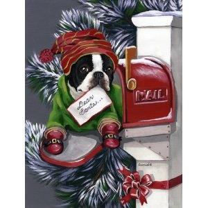 Boston Terrier Letter To Santa Garden Flag