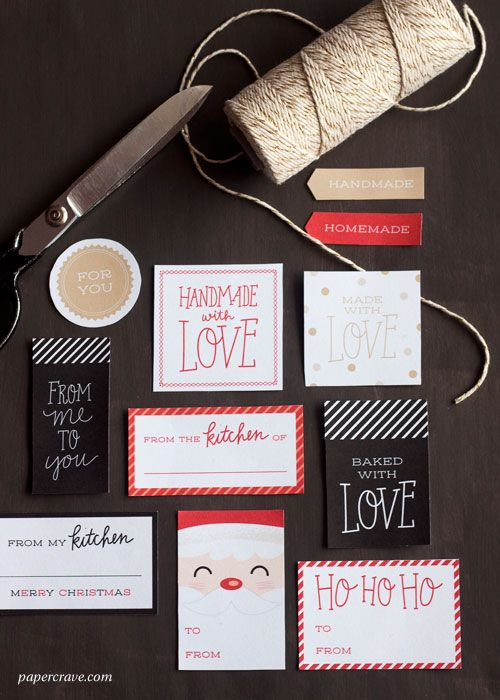 Free Printable Holiday Tags   Papercrave.com